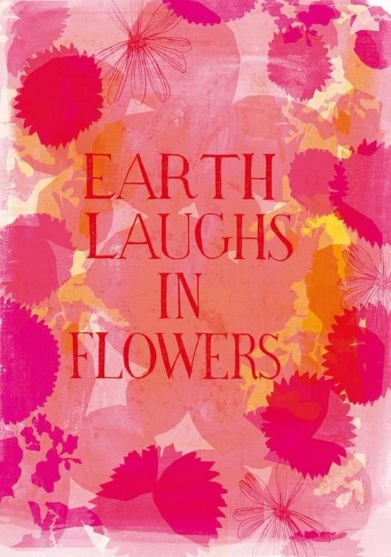 Earth laughs with flowers