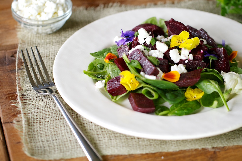 Beet-Salad-Edible-Flowers-Dr-Josh-Axe